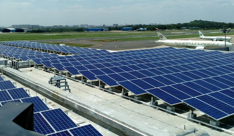 1.6 MW Rooftop System for Airports Authority of India